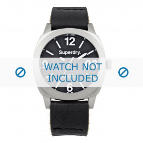 Watch strap Superdry SYL116B Leather Black 20mm