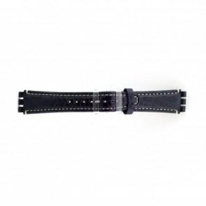 Genuine leather watch strap for Swatch croco blue 19mm ES- 2.05