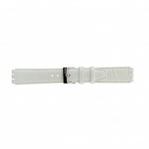 Watch strap Swatch 21414.11 Leather White 17mm