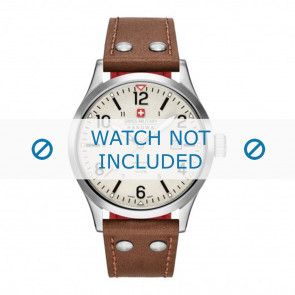 Swiss Military Hanowa watch strap 06-4280.04.002.05 Leather Cognac 22mm + white stitching