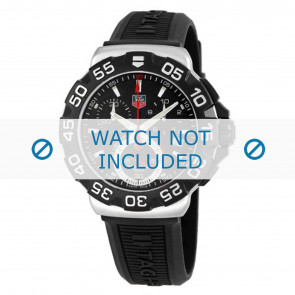 Tag Heuer watch strap BT0714 Rubber / plastic Black