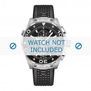 Tag Heuer watch strap CAJ2180.FT6023 Rubber / plastic Black