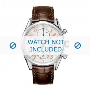 Tag Heuer watch strap CAR2150.FC6291 / CAR2110 / CAR2110 / WAR5011 / CAS2111 / CAS2111 / CAS2150 / CV2013 / WAR201B / WAR201C / WAR201D / WAR5012 Leather Brown 20mm + brown stitching