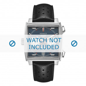Watch strap Tag Heuer CAW211P.FC6356 Leather Black