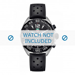 Watch strap Tag Heuer 19,5mm BT0725 / FT8023 / FT8025 Rubber Black