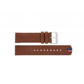 Tommy Hilfiger watch strap TH-248-1-14-1685 / TH679301739 Leather Brown + brown stitching