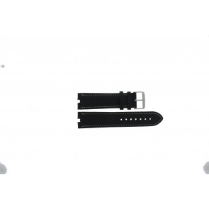 Tommy Hilfiger watch strap TH-38-1-14-0686 ALT 307.01 Leather Black 24mm + white stitching
