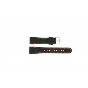 Timex watch strap T2N428 Leather Black 22mm