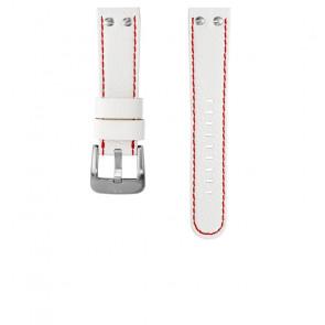 TW Steel watch strap TWB39 / TW39 Leather White 22mm + red stitching