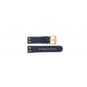 TW Steel watch strap TWB404-405 Leather Blue 24mm + blue stitching