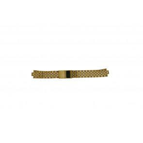 Morellato watch strap U0492125   Steel Gold (Doublé) 18mm