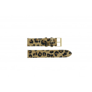 Guess watch strap W16574L1 Leather Leopard 20mm