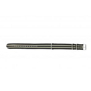 Watch strap NATO WG20 Textiles Black 20mm