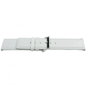 Watch strap Universal K505 Leather White 28mm