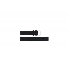 Watch strap 6826 Silicone Black 20mm
