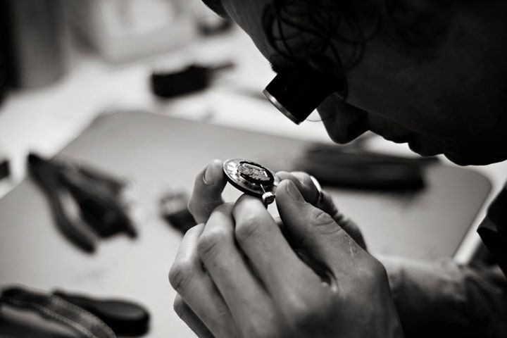 Eric Slegers - Our experienced watch maker at work